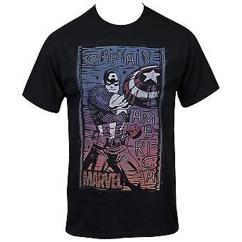 Marvel Captain America Ensimmäinen Avengers Fight Stance T-paita