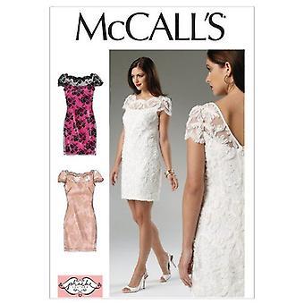 McCalls Schnittmuster 6505 Misses gefüttert Kleid Größe 6-14 A5