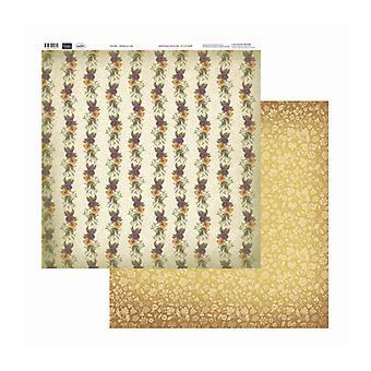 Couture Creations - Pansies I A Line 12x12 tum Dubbelsidiga förpackningar med 10 ark