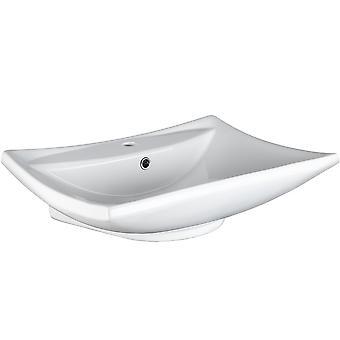 tectake Keramisk håndvask - hvid