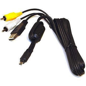 用于尼康 Coolpix P100 L110 S3000 S8000 奥林巴斯 T100 T-100 T-100 S4000 富士 Finepix S1500 P90 的 USB AV 电缆