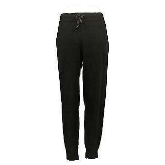zuda Women's Pants Cozy Knit Stretch Jogger Black A390242
