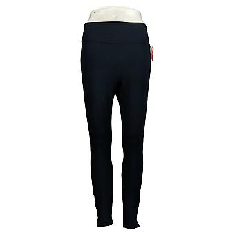 Spanx Petite Leggings Ankle Length Ponte Hem Slit Blue A369379