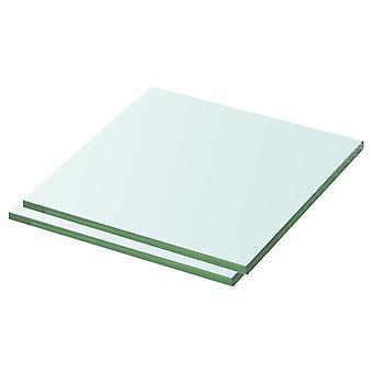 vidaXL رفوف 2 pcs. الزجاج شفاف 30 × 30 سم