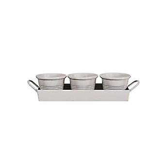 Garden Trading Set of 3 Pots on Herb Tray