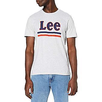 Lee Stripe Tee T-Shirt, Grå (Sharp Grey Apples 03), XXL Män