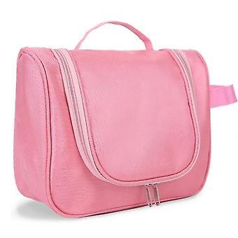مستحضرات التجميل رائعة شنقا حقائب السفر حقيبة مرحاض للماء المحمولة غسل ماكياج منظم الحقيبة الوردي