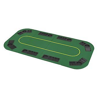 vidaXL 8-speler pokertafel top opvouwbaar 4-voudig rechthoekig groen