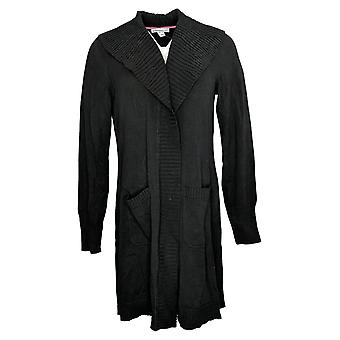 Isaac Mizrahi En direct! Top Manches longues noir pour femmes A385136