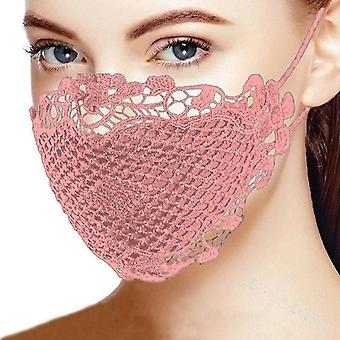 19Cmx14cm الوردي المضادة للغبار قناع الماسكاريل مزدوجة الطبقة للنساء x2979