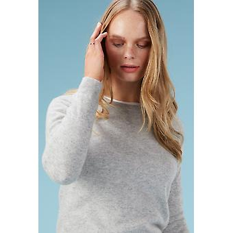 Loop Cashmere Crew Neck Sweater In Foggy