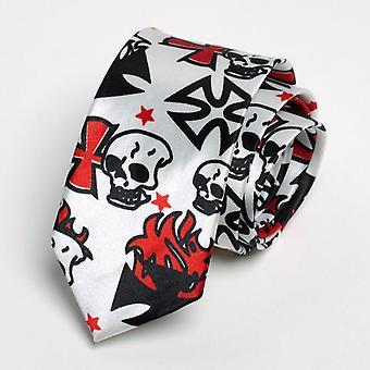 Fashion Skull Pattern Party Necktie