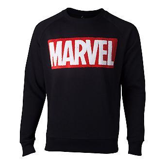 Marvel Comics - Chenille Logo Heren X-Large Sweater - Zwart