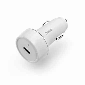 | de Hama Cargador de coche, entrega de energía (PD)/ Qualcomm, 18 W | Blanco