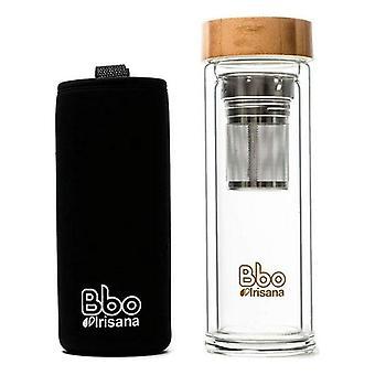 Infusions Bottle Irisana (400 ml) Transparent Borosilicate Glass
