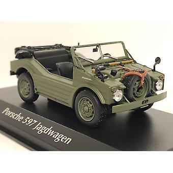 Maxichamps 940065300 1954 Porsche 597 Jagdwagen Olive 1:43 Scale