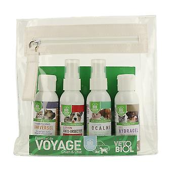 Organic travel kit for dogs and cats 4 units