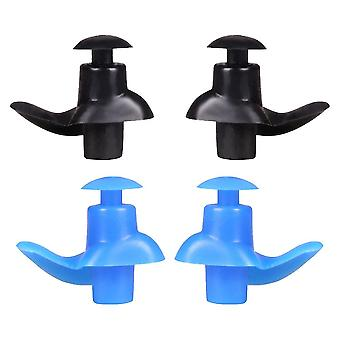 2 Pcs Swimming Ear Plugs Professional Waterproof Reusable Silicone Earplugs