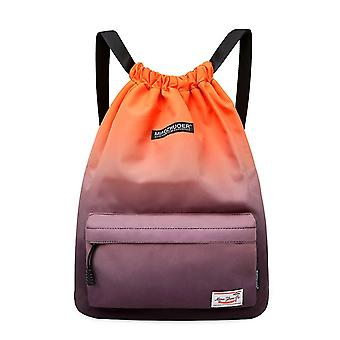 new orange gray waterproof drawstring sports backpack for training swimming fitness and sm63612