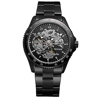 Men's Mechanical Watch Time Display Stylish Casual Stainless Steel