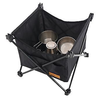 Vedenpitävä Oxford Desk Ulkona Taittopöytä Suuren kapasiteetin varastointi Roikkuva Kori Piknik Camping Pussi Järjestäjä