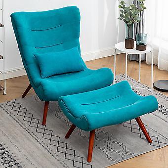 Chenille Recline Lounge Chair und Hocker
