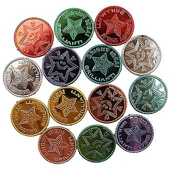 Glück Piraten Gold Münzen Kunststoff-Set, Gold Schatz Münzen