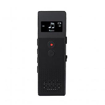 Enregistreur vocal avec support USB (Noir)