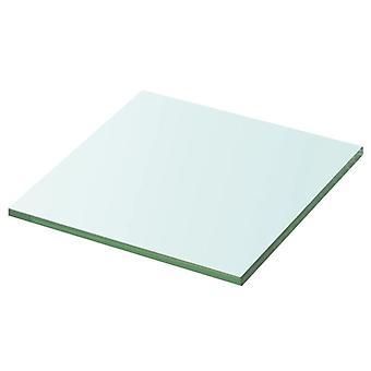 vidaXL الجرف زجاج شفاف 20 سم × 20 سم