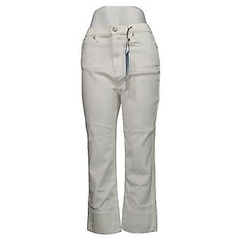 DG2 przez Diane Gilman damskie spodnie szeroki mankiet przycięte Jean White 740967