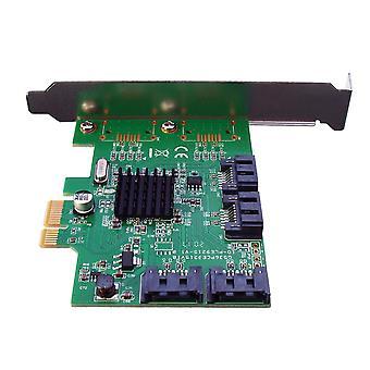 4-poorts PCI-Express X1 SATA 3.0 6Gb/s uitbreiding adapterkaart chipset voor Marvell