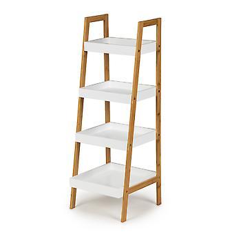 Ladder boekenkast - 4 schappen - 98 x 35 x 34,5 cm - wit