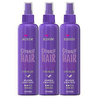 Aussie sprunch hairspray for curly hair, non-aerosol, 8.5 oz x 3 ea