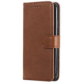 Wallet Pu Leather Phone Case For Samsung S20 Simple Pure Color