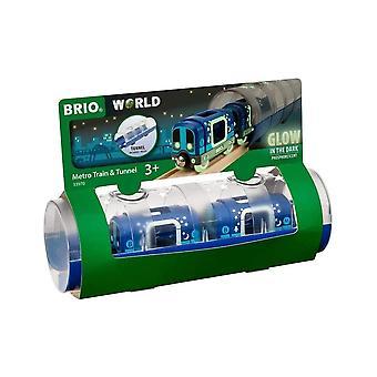 Brio 33970 Brio Glow In The Dark Metro Train & Tunnel
