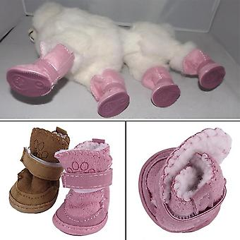 Lovely Winter Warm Pet Dog Shoes Anti Slip Snow Boots For Small Pet Puppy