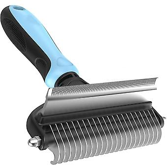 Dog Brush And Cat Brush  2 Sided Pet Grooming Tool For Deshedding