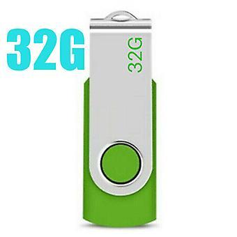(Grün-32 GB) USB-Flash-Speicherlaufwerk 2.0 High Speed Stick Pen Thumb Datenspeicher für Desktop