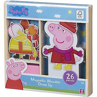 Peppa Pig Magnetic Wooden Dress Up Set