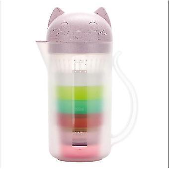Pojemniki na butelki podróżne żaroodporny przenośny czajnik przeciwwybuchowy z filtrem różowym