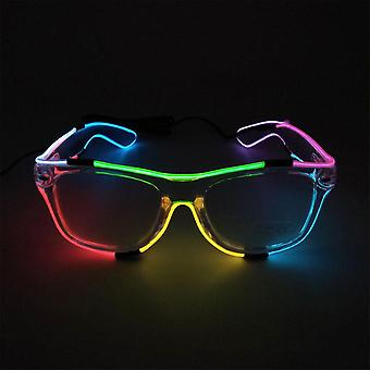 Led Glasses Wire Neon Party Luminous Colorful El Wire Luminous Glasses Neon Party Led Light Up Eyeglasses Dj Party