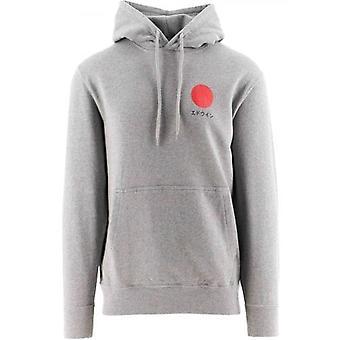 Edwin Grey Japanese Sun Hooded Sweatshirt