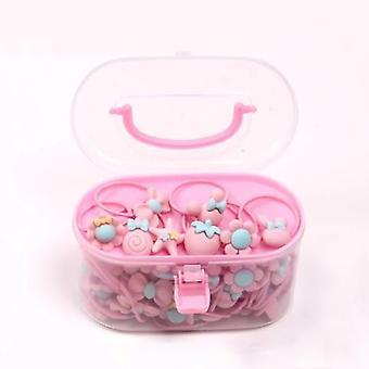 40 stuks / partij van meisjes haar accessoires gift box elastische hoofdband bloem haarspeld candy bow schattige kinderen