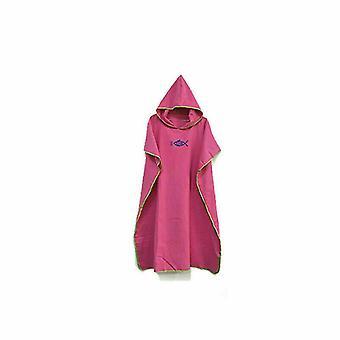 Hooded Poncho Towel Beach Robe Bathrobe Quick Dry Bath Unisex