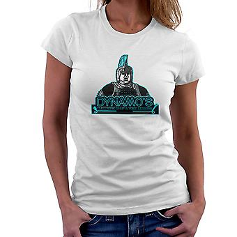 Dynamos Electronic Shop and Voice Lessons Running Man Women's T-Shirt