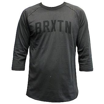 Camiseta de manga 3/4 de Brixton Hamilton lavado negro