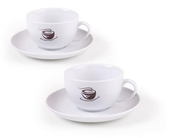 Set of 4 Villeroy & Boch Voice Large White Coffee set