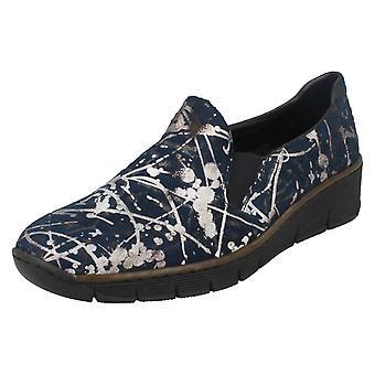 Wsuwane buty damskie Rieker na co dzień buty 53766