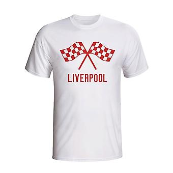 Liverpool Waving Flags T-shirt (weiß)