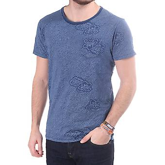 Scotch & Soda All Over Printed T Shirt With Spots And Flowers